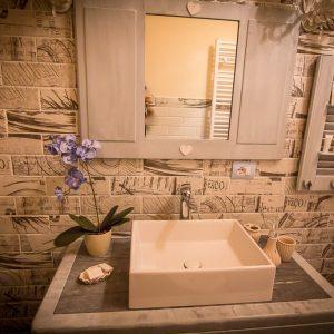 Agriturismo Le Capannacce Urbania – appartamento-del-conadino – dettaglio bagno